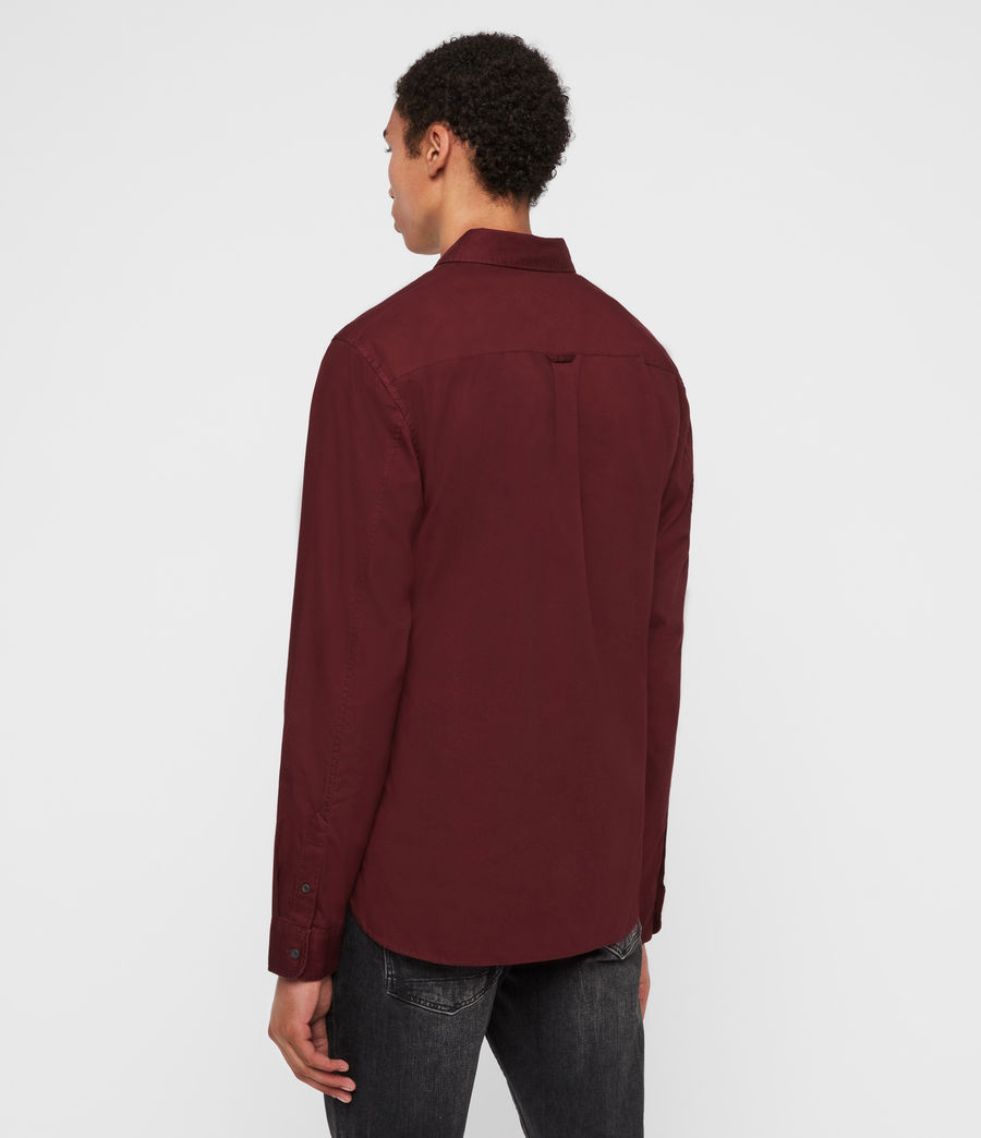 Mens Redondo Long Sleeve Shirt (maroon_red) - Image 5