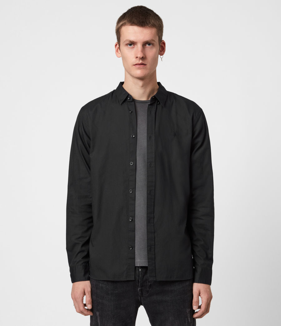 Mens Redondo Long Sleeve Shirt (black) - Image 1