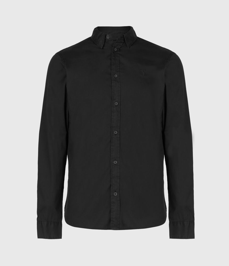 Mens Redondo Long Sleeve Shirt (black) - Image 2