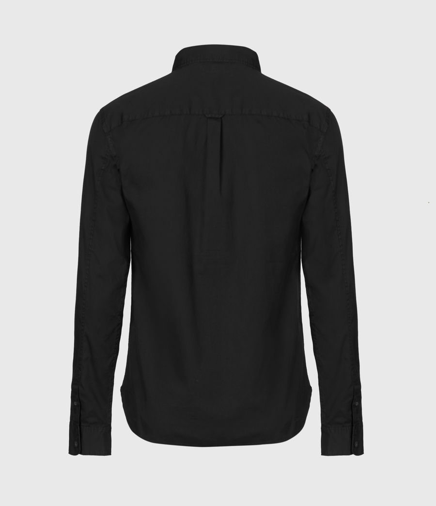 Mens Redondo Long Sleeve Shirt (black) - Image 3
