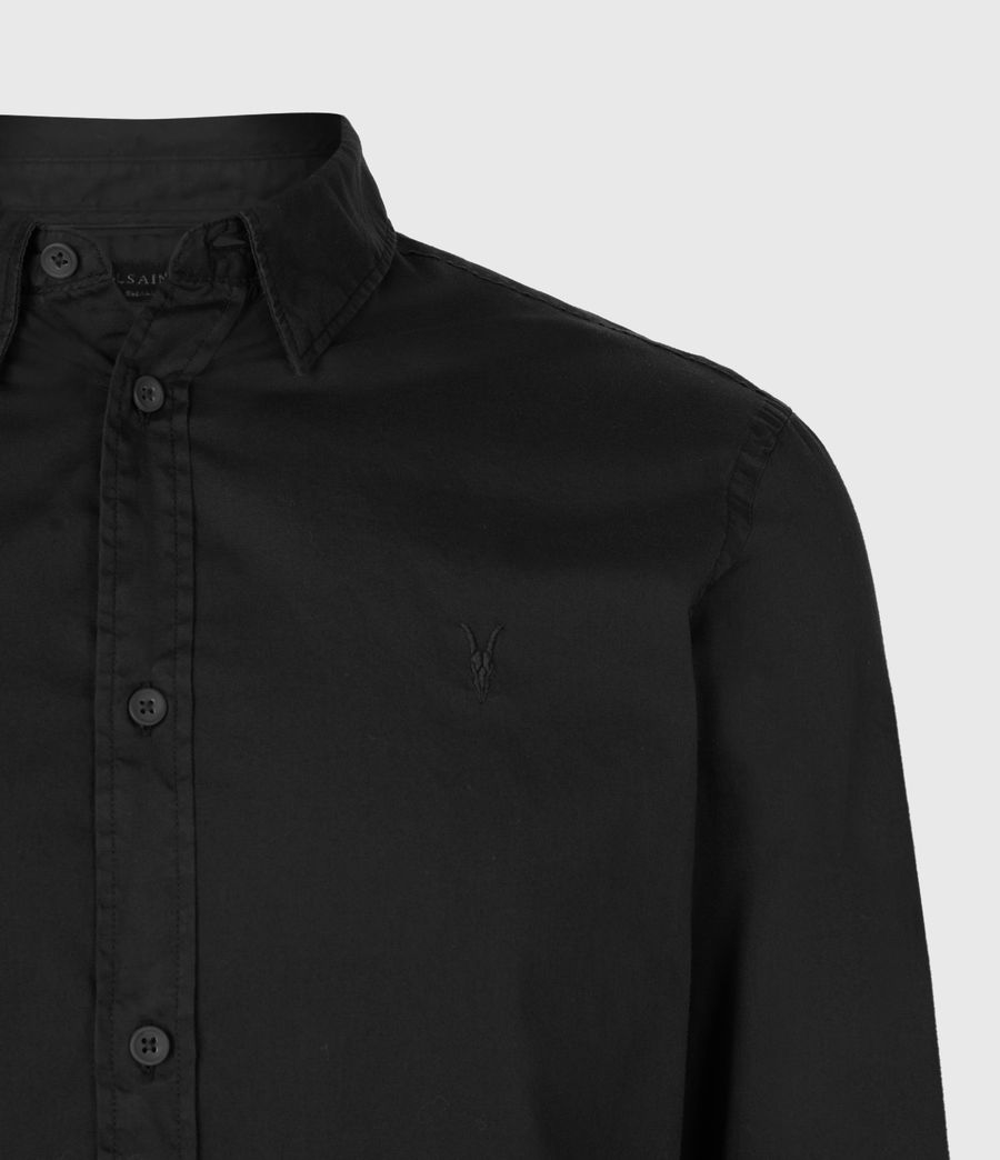 Mens Redondo Long Sleeve Shirt (black) - Image 4