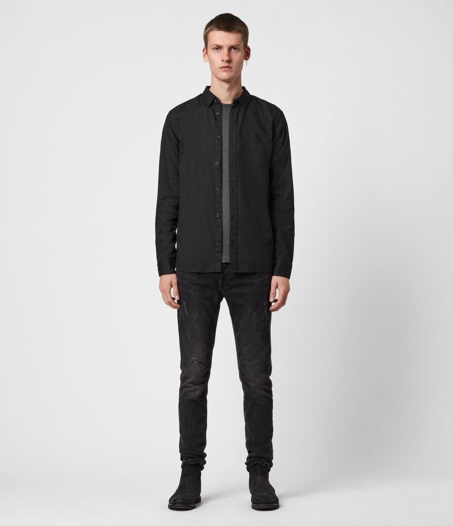 Mens Redondo Long Sleeve Shirt (black) - Image 6