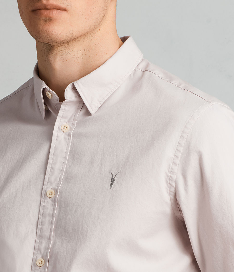 Mens Redondo Long Sleeve Shirt (river_pink) - Image 2