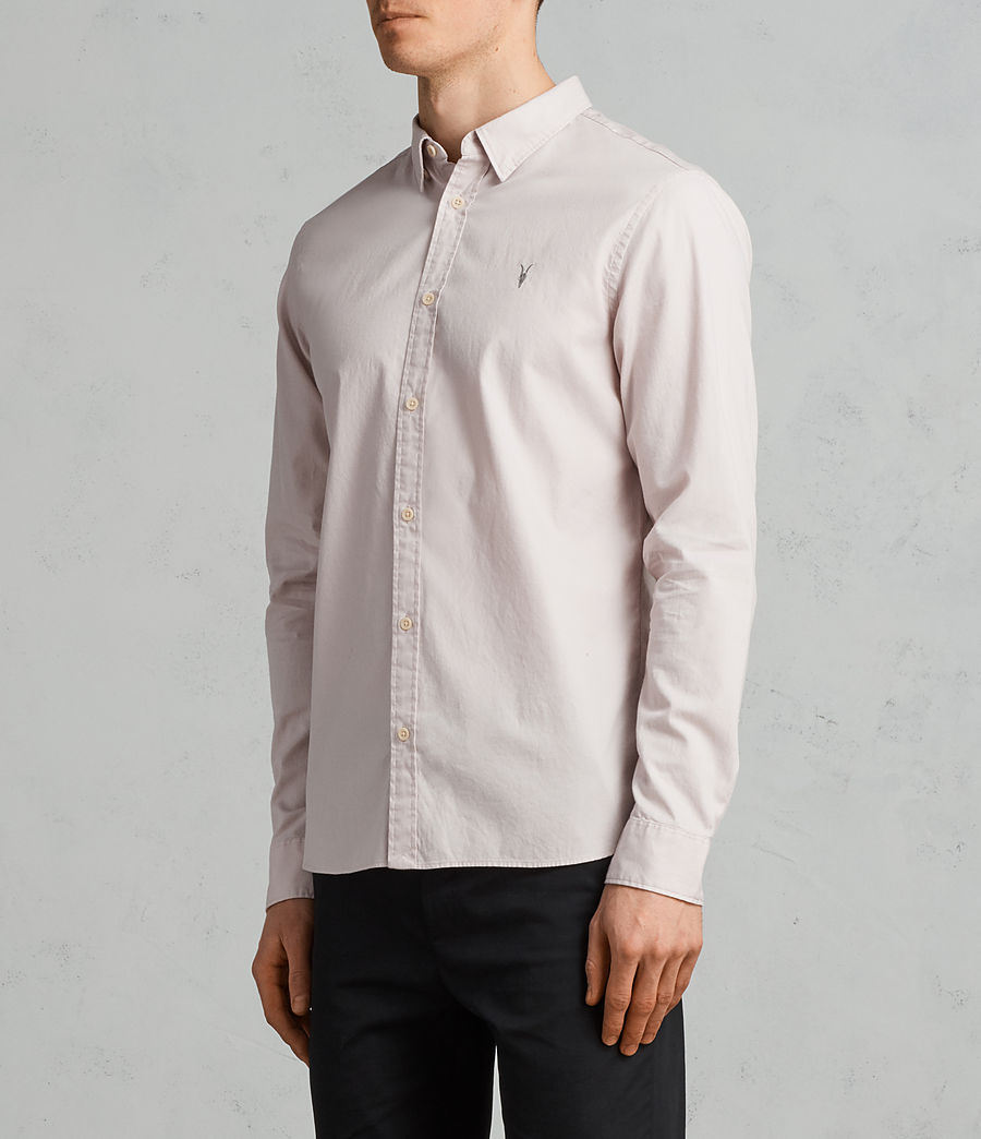 Mens Redondo Long Sleeve Shirt (river_pink) - Image 3