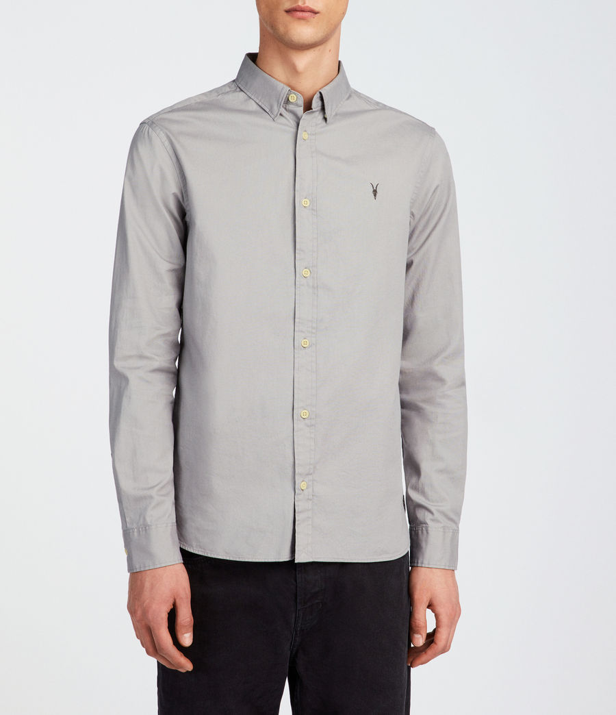 Mens Redondo Long Sleeve Shirt (land_grey) - Image 1