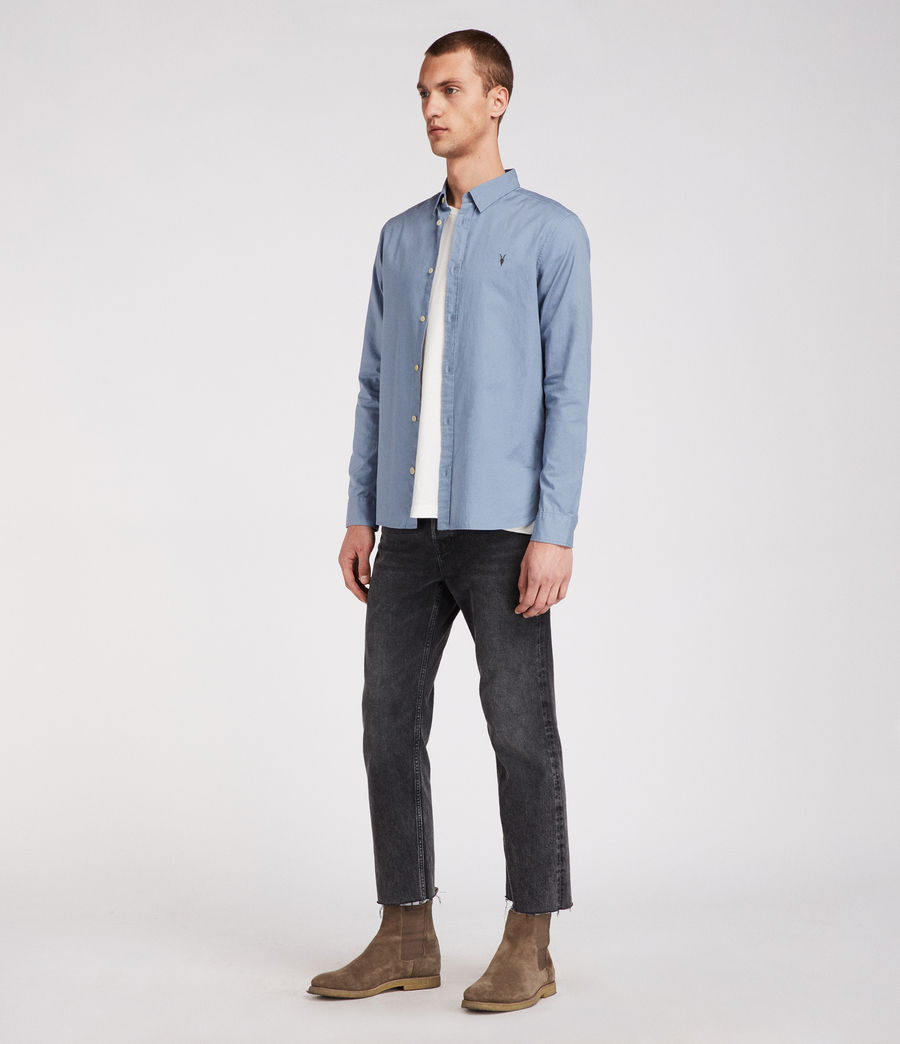 Men's Redondo Long Sleeve Shirt (dove_grey) - Image 3