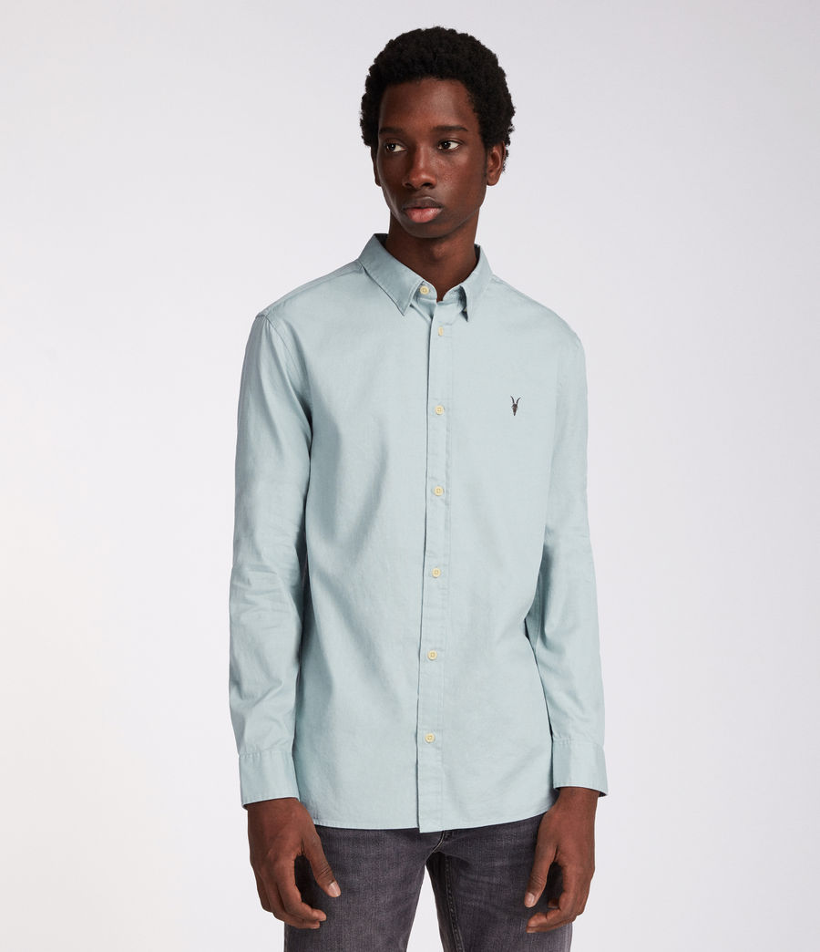 Uomo Redondo Long Sleeve Shirt (joshus_green) - Image 1