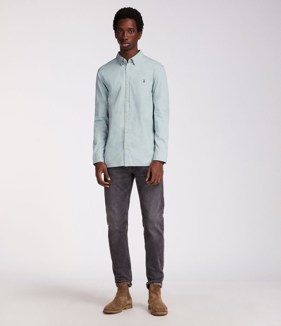 Uomo Redondo Long Sleeve Shirt (joshus_green) - Image 2