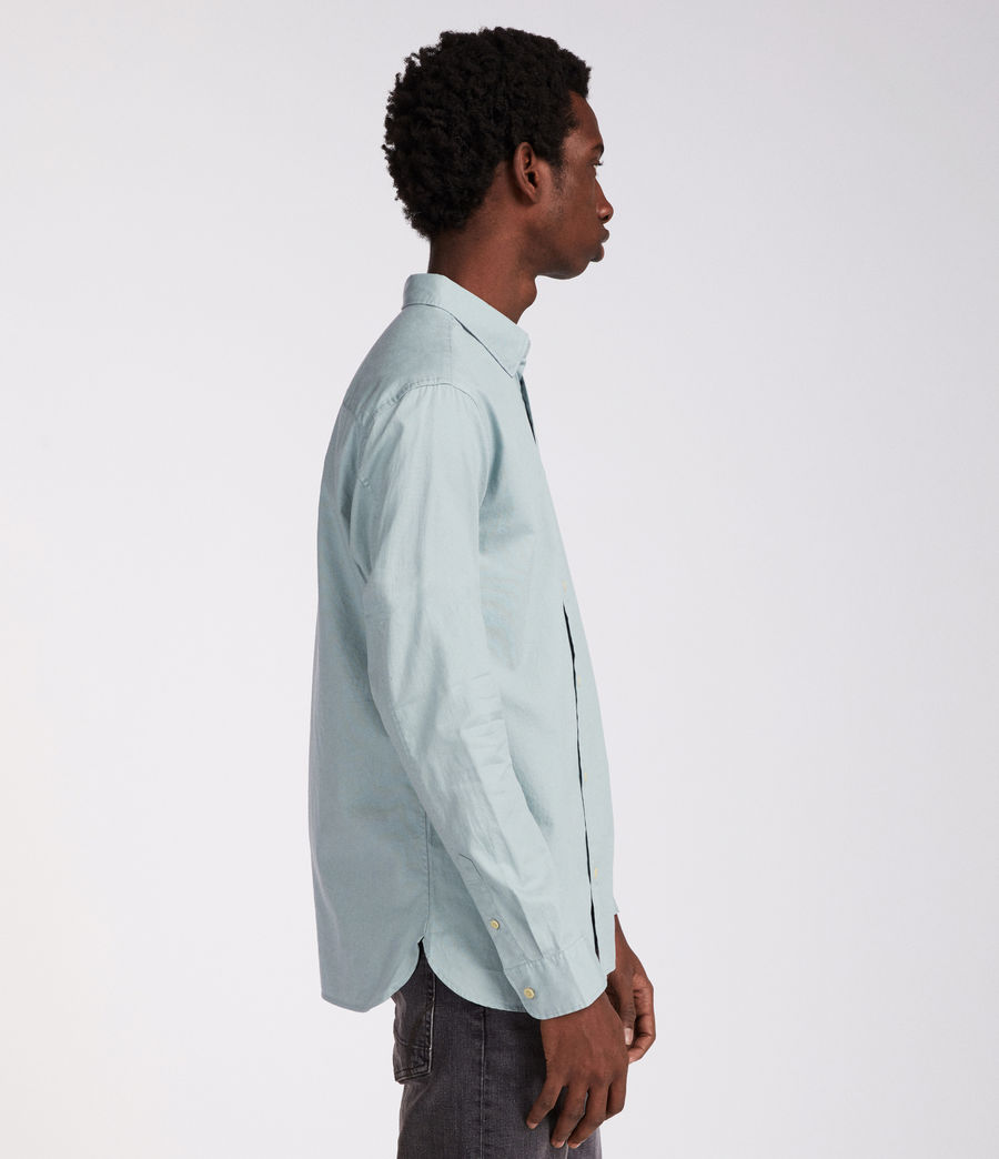 Mens Redondo Long Sleeve Shirt (joshus_green) - Image 3