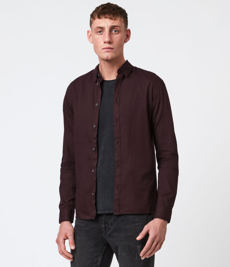 Men's Redondo Long Sleeve Shirt (black) - Image 1
