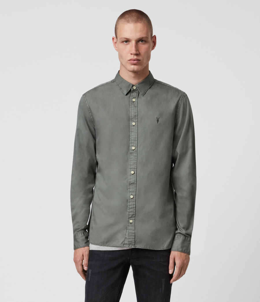 Mens Redondo Long Sleeve Shirt (sheal_green) - Image 1
