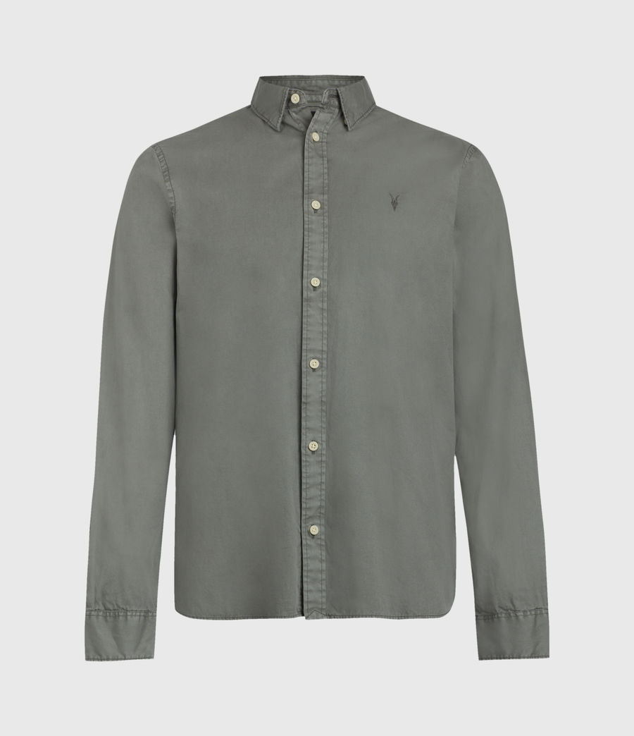 Mens Redondo Long Sleeve Shirt (sheal_green) - Image 2