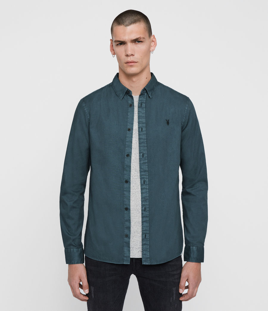 Mens Redondo Long Sleeve Shirt (beech_green) - Image 1