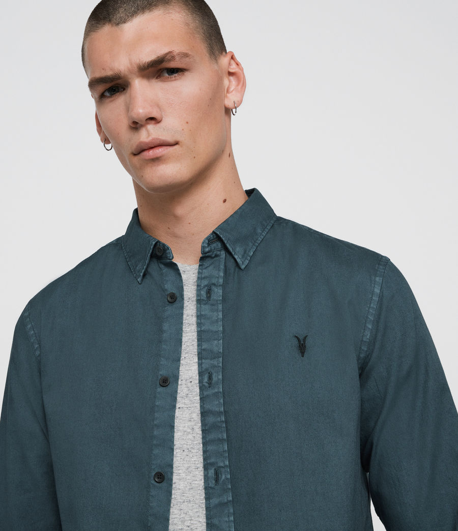 Mens Redondo Long Sleeve Shirt (beech_green) - Image 2