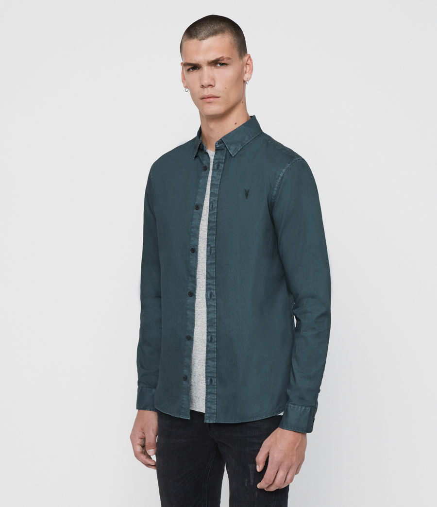 Mens Redondo Long Sleeve Shirt (beech_green) - Image 3