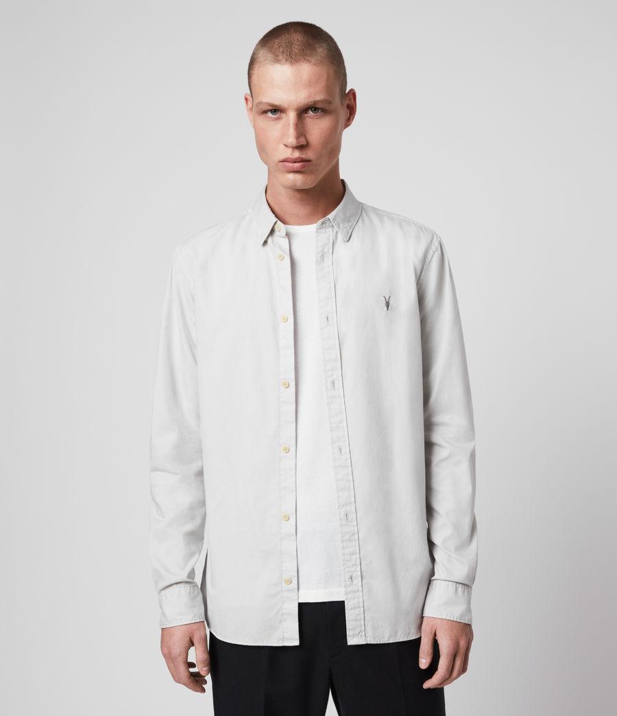 Mens Redondo Long Sleeve Shirt (white) - Image 1