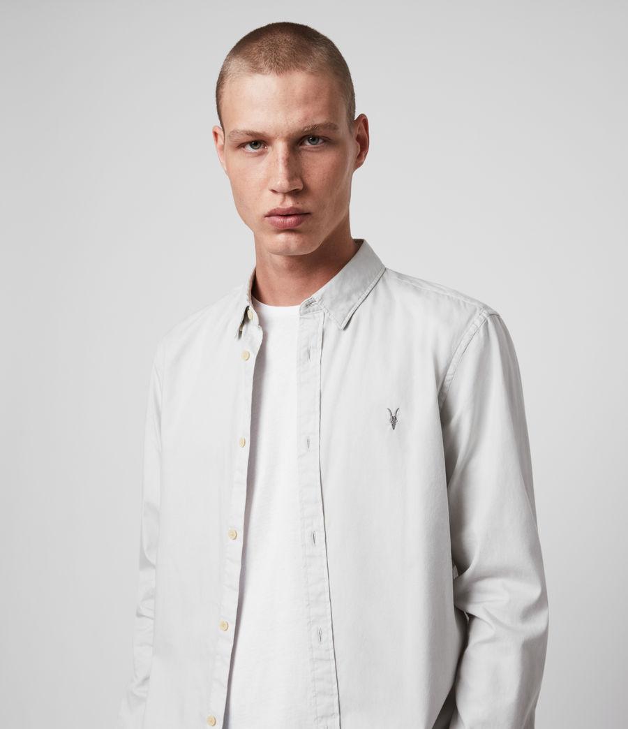 Mens Redondo Long Sleeve Shirt (white) - Image 2