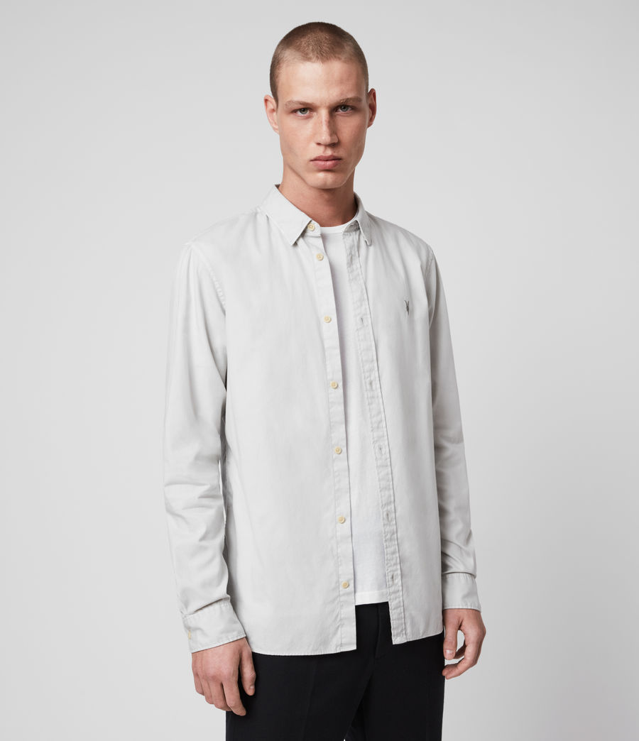 Men's Redondo Long Sleeve Shirt (light_grey) - Image 4