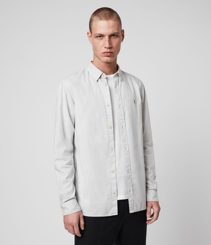 Mens Redondo Long Sleeve Shirt (white) - Image 4