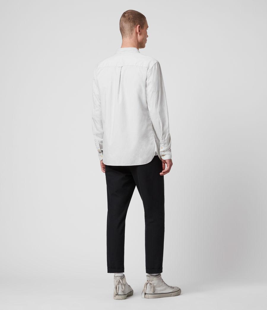 Mens Redondo Long Sleeve Shirt (white) - Image 5