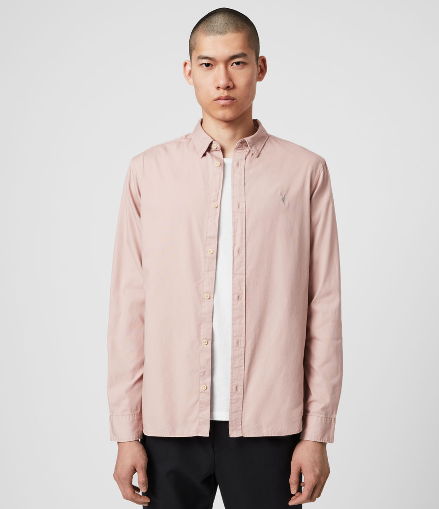 Mens Redondo Long Sleeve Shirt (sunset_pink) - Image 1