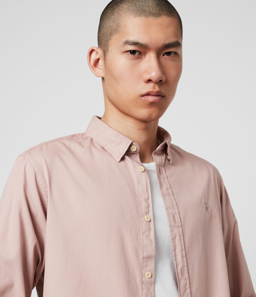 Mens Redondo Long Sleeve Shirt (sunset_pink) - Image 2