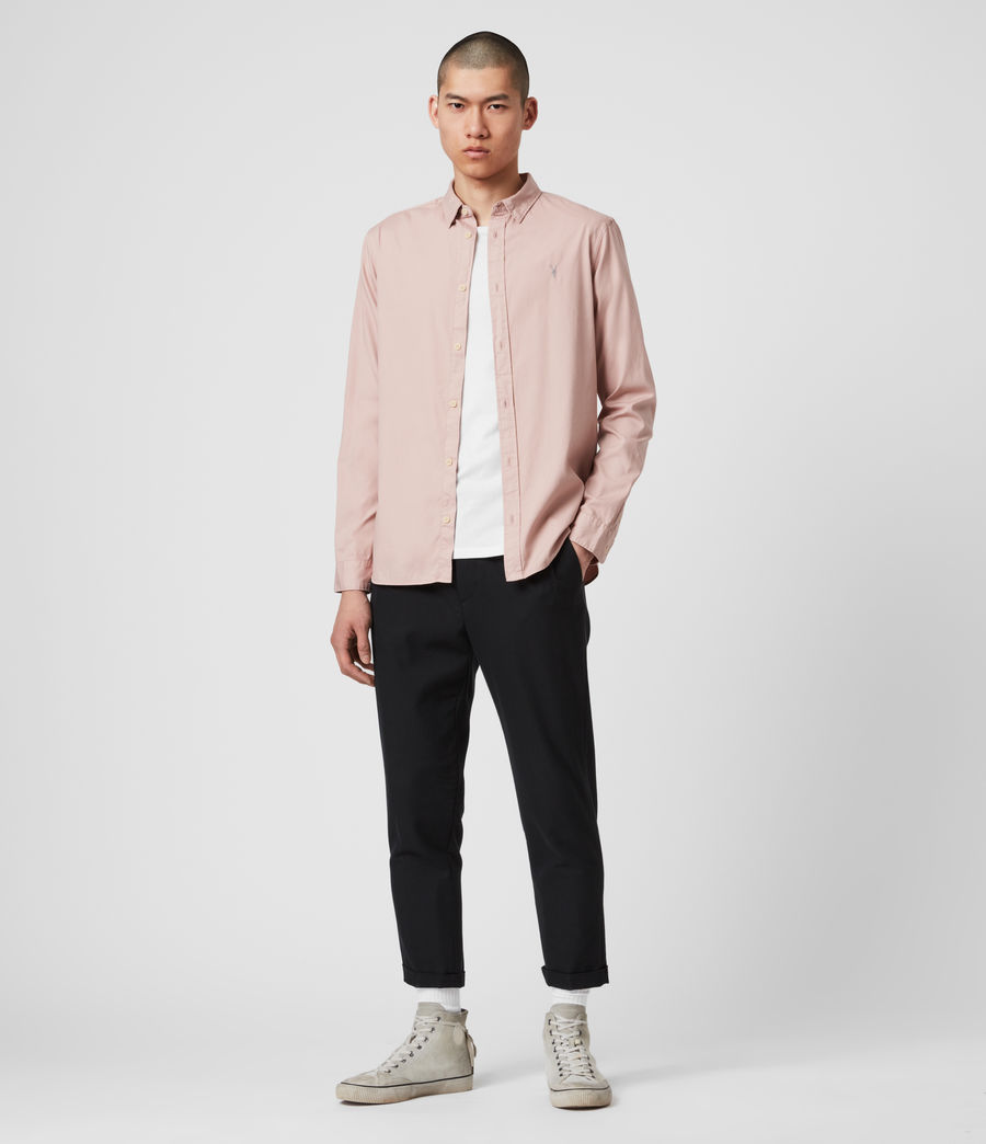 Mens Redondo Long Sleeve Shirt (sunset_pink) - Image 3