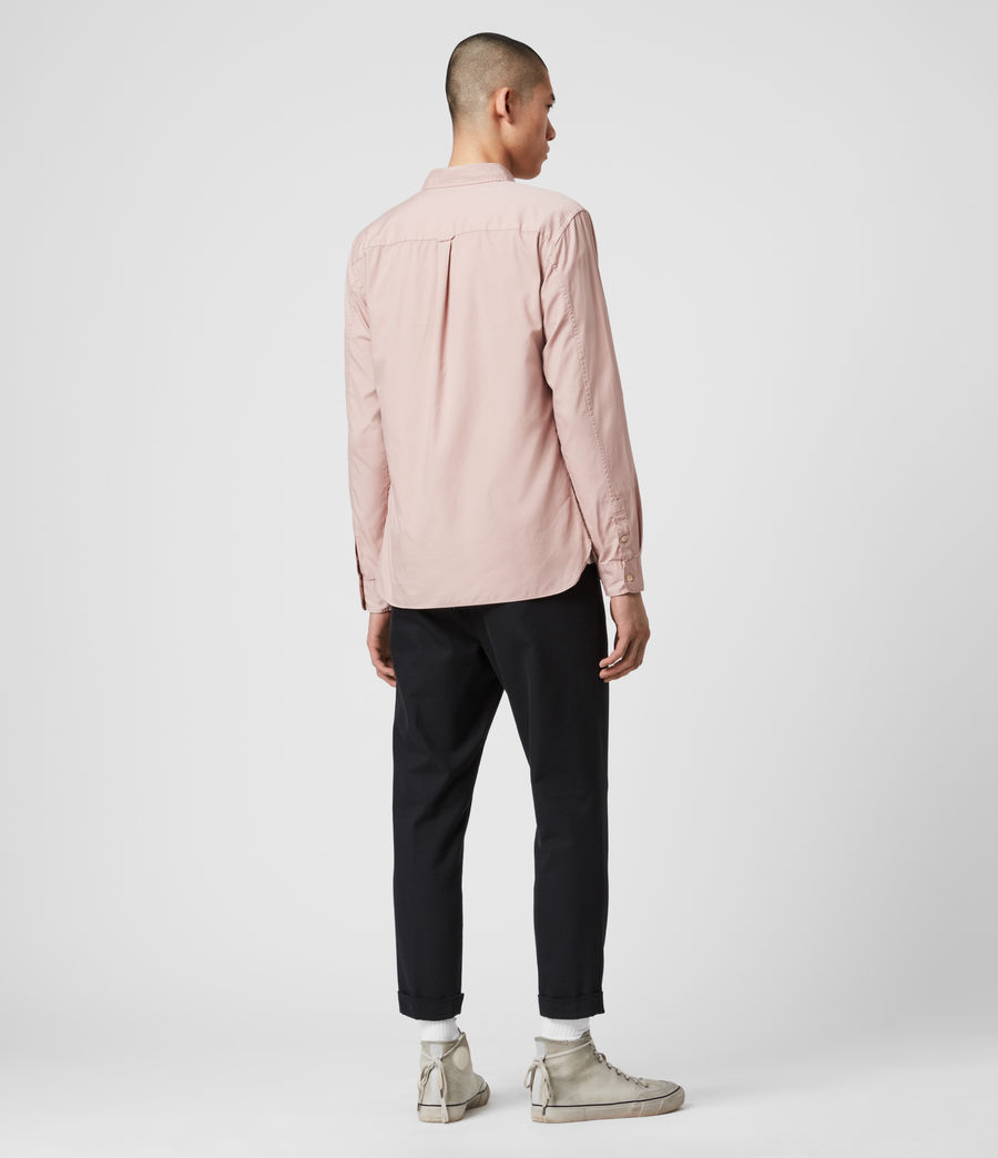 Mens Redondo Long Sleeve Shirt (sunset_pink) - Image 4