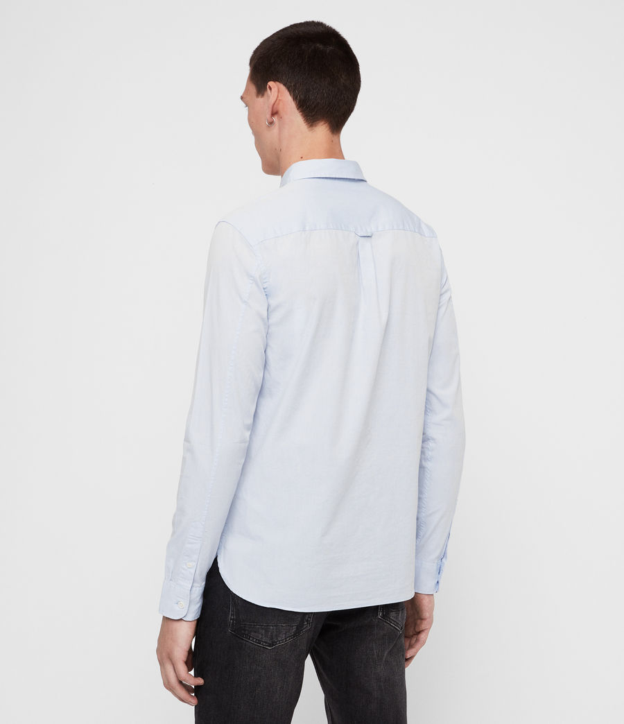 Mens Redondo Long-Sleeve Shirt (light_blue) - Image 6
