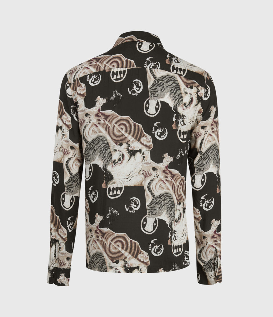 Mens Akita Long Sleeve Shirt (jet_black) - Image 4