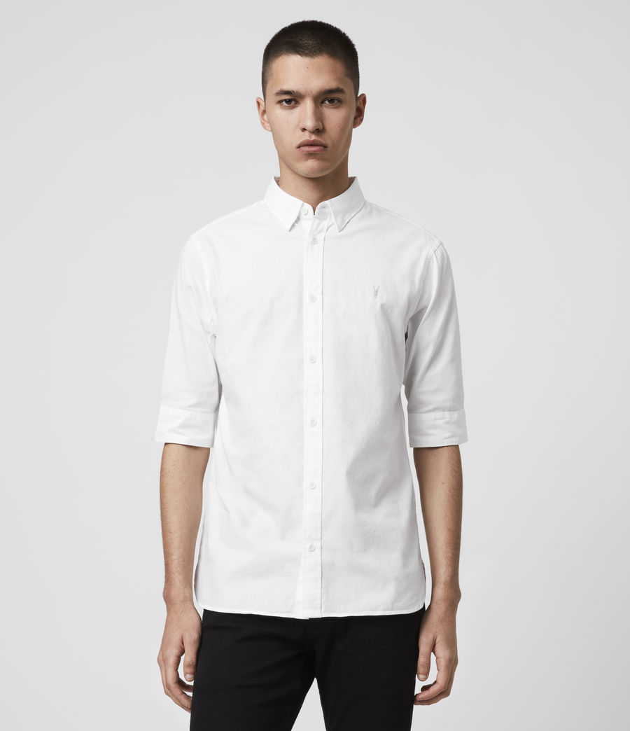Mens Redondo Half-sleeved Shirt (white) - Image 1