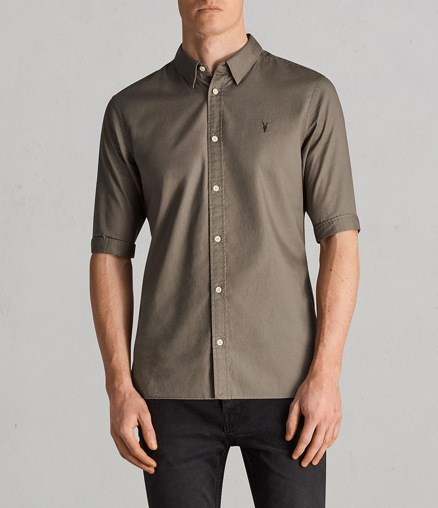 Hombres Camisa Redondo (olive_green) - Image 1