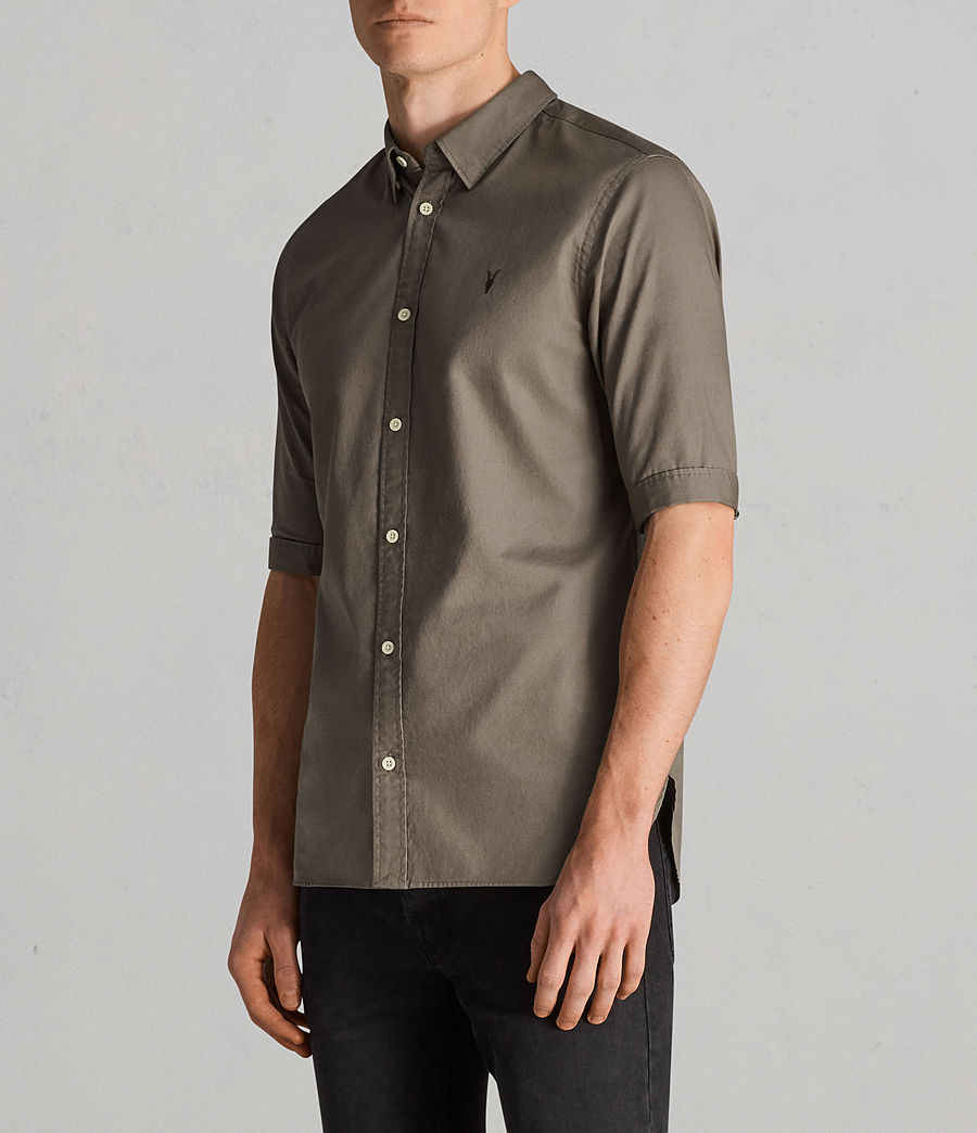 Hombres Camisa Redondo (olive_green) - Image 3