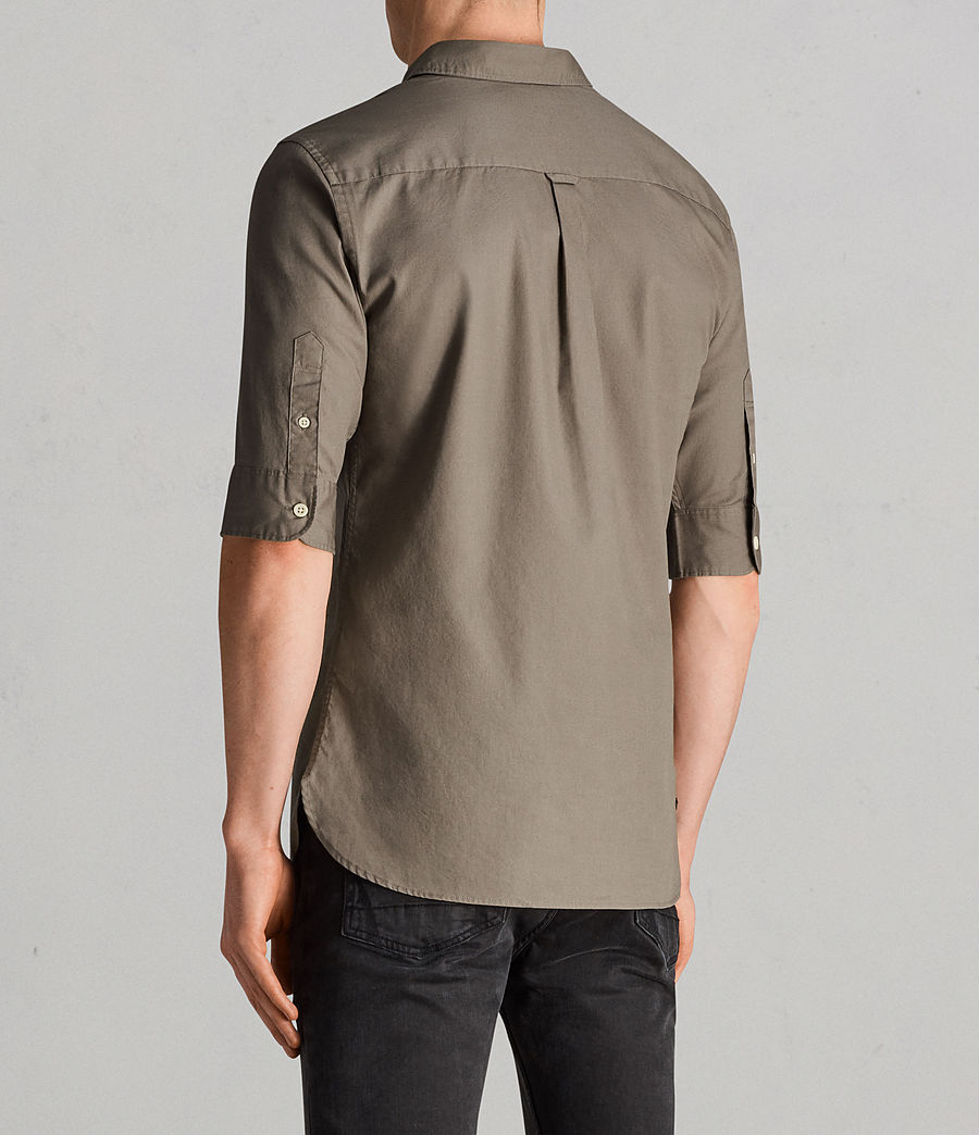 Hombres Camisa Redondo (olive_green) - Image 4
