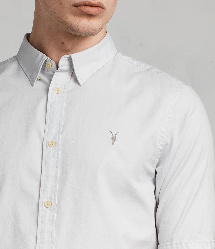 Men's Redondo Half Sleeve Shirt (celest_blue) - Image 2