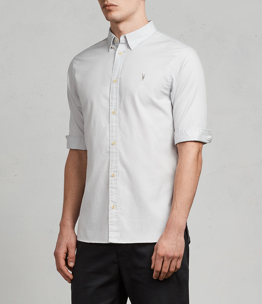 Men's Redondo Half Sleeve Shirt (celest_blue) - Image 3