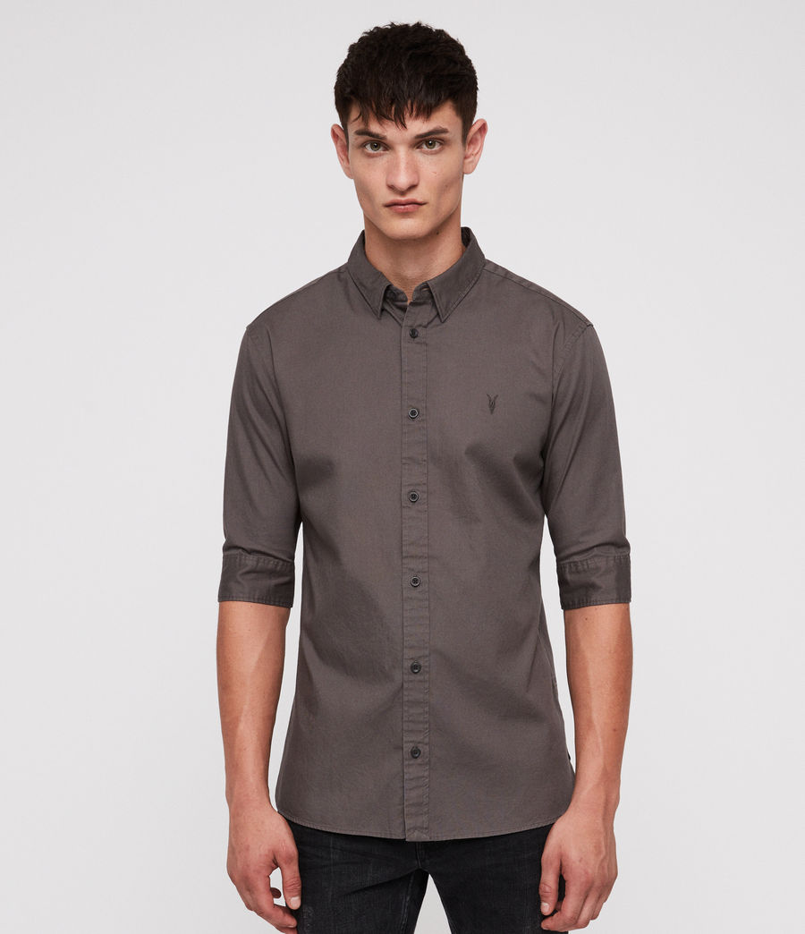 Men's Redondo Half-sleeved Shirt (core_grey) - Image 1