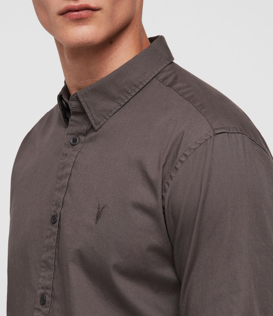 Men's Redondo Half-sleeved Shirt (core_grey) - Image 2
