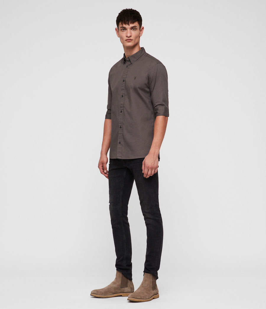 Men's Redondo Half-sleeved Shirt (core_grey) - Image 3
