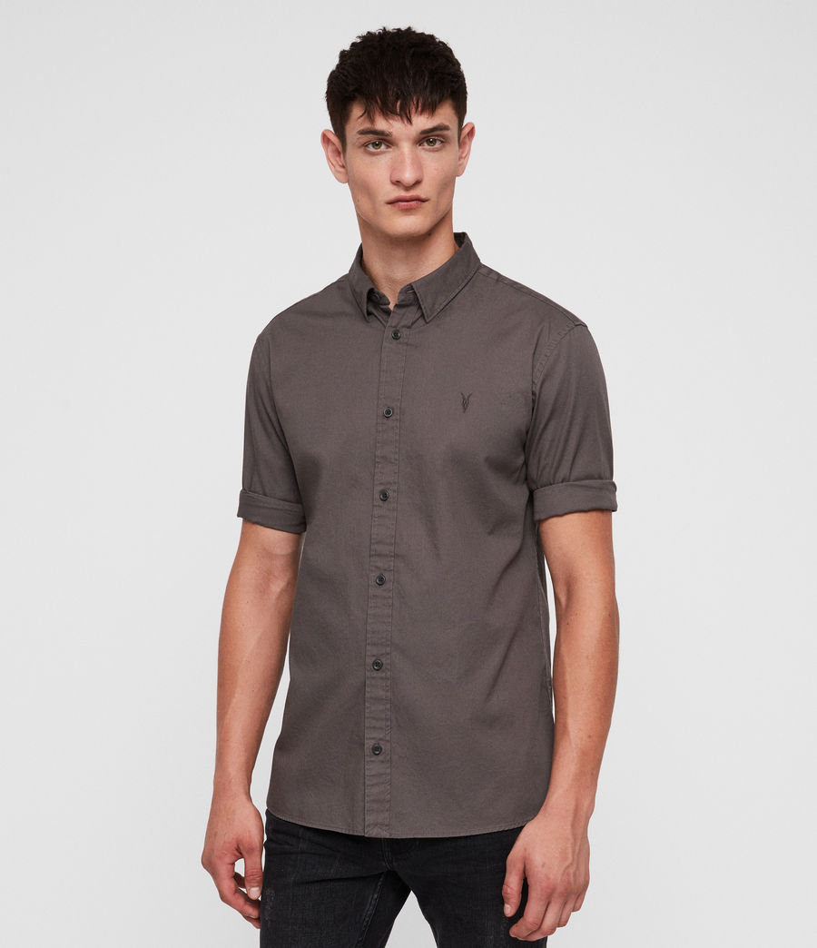 Men's Redondo Half-sleeved Shirt (core_grey) - Image 4