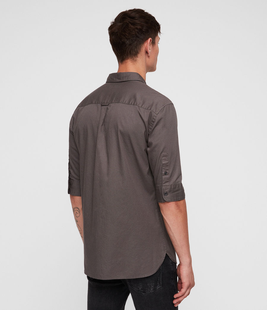 Men's Redondo Half-sleeved Shirt (core_grey) - Image 5