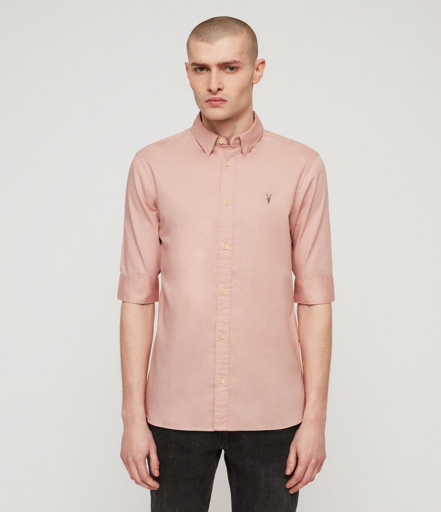 Men's Redondo Half-sleeved Shirt (light_blue) - Image 4