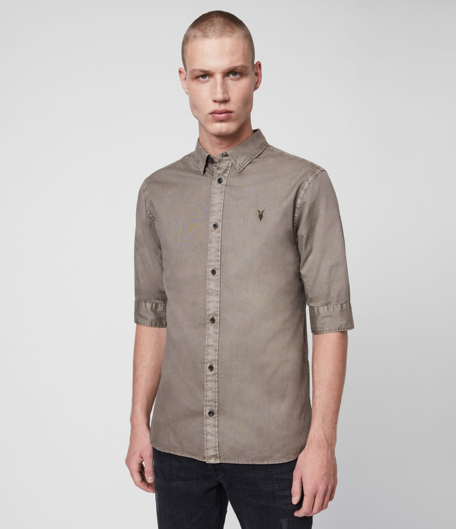 Mens Redondo Half-Sleeve Shirt (tile_grey) - Image 1