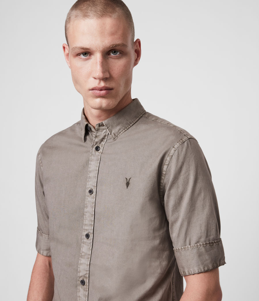 Mens Redondo Half-Sleeve Shirt (tile_grey) - Image 2