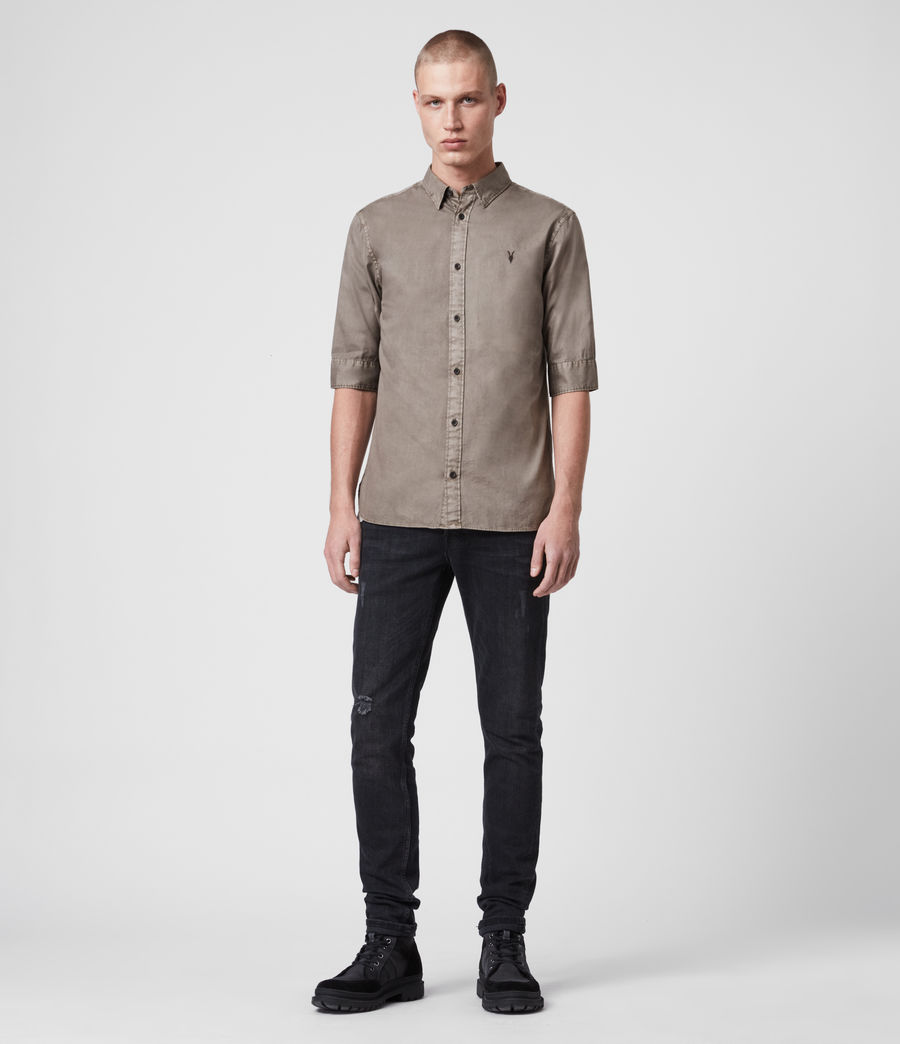 Mens Redondo Half-Sleeve Shirt (tile_grey) - Image 3
