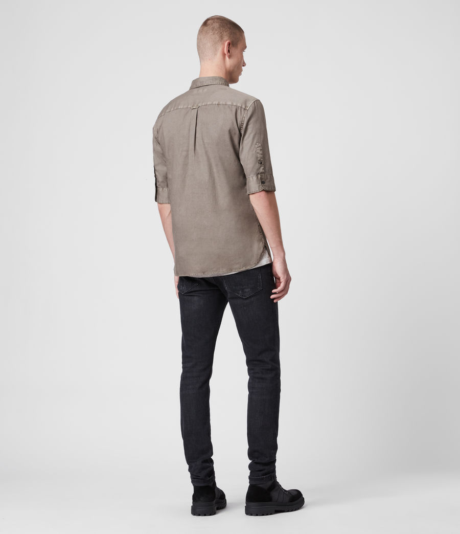 Mens Redondo Half-Sleeve Shirt (tile_grey) - Image 5