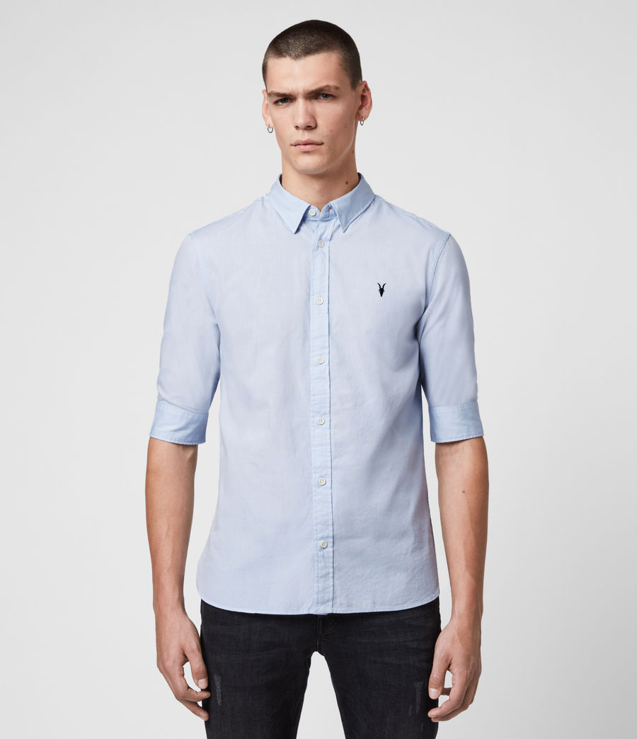 Mens Redondo Half-sleeved Shirt (light_blue) - Image 1