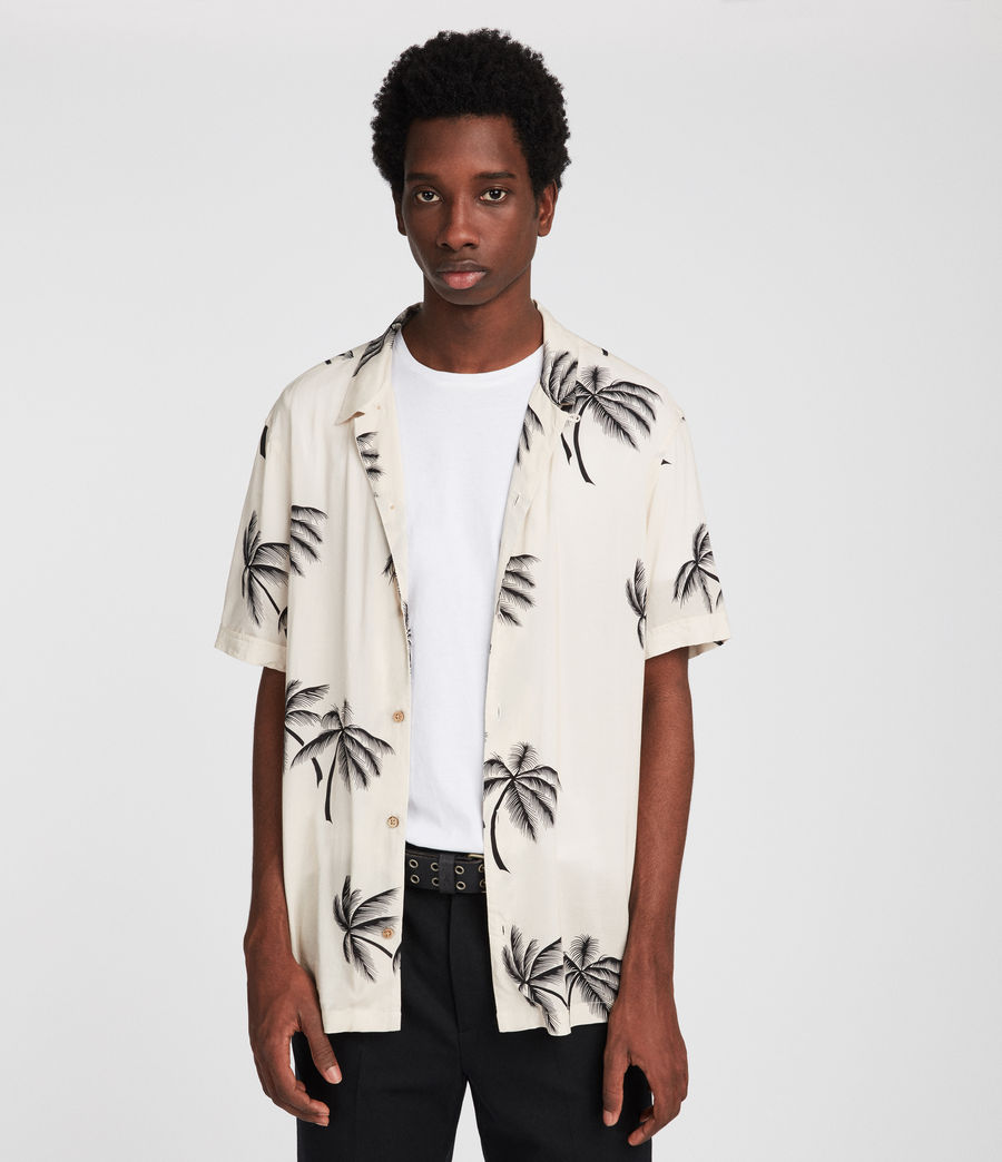 Men's Offshore Hawaiian Shirt (ecru) - Image 1