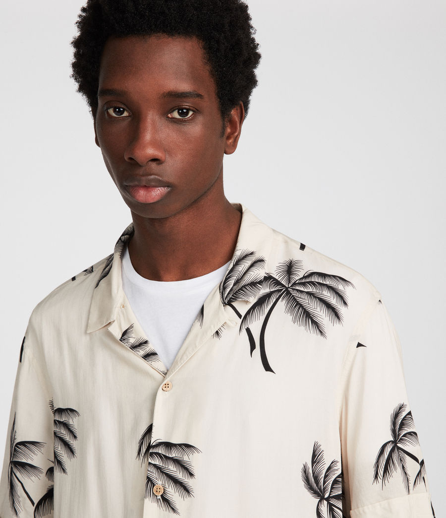 Men's Offshore Hawaiian Shirt (ecru) - Image 2