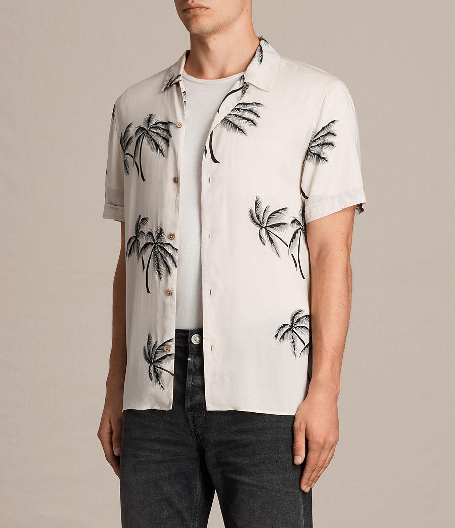 Hombre Camisa de manga corta Offshore (ecru_white) - Image 3
